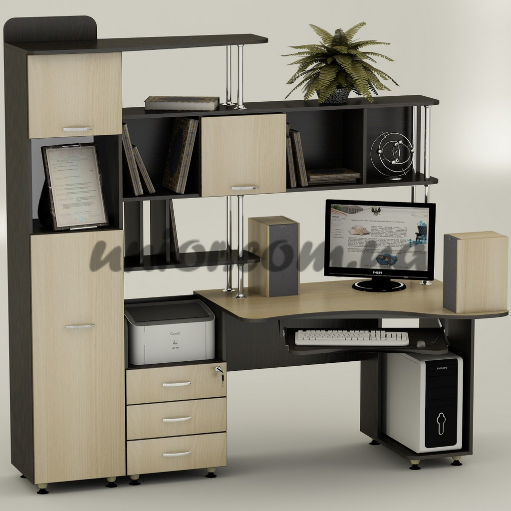 Компьютерный стол ск 20 к венге ф дуб